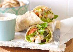 Giannis Garlic and Herb Chicken Wrap
