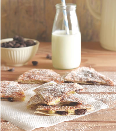 Banana and Chocolate Tortilla Treats